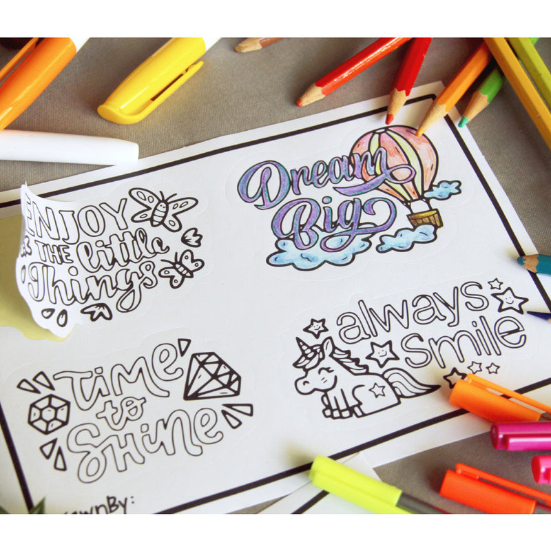 DrawnBy: Colouring Stickers (Available in 3 Designs)