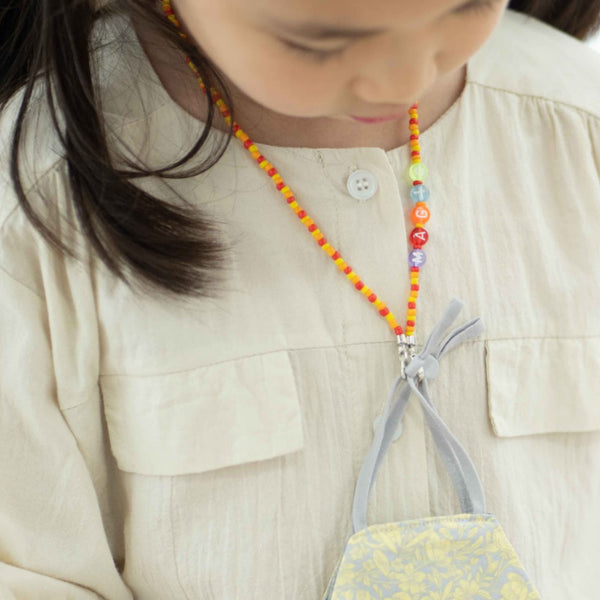JOY Versi Kids Face Mask Chain, Orange + Red