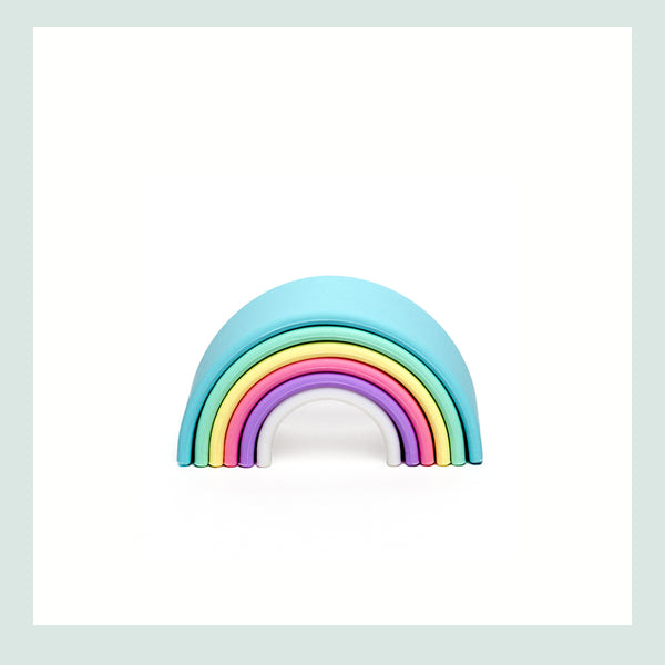 dëna Small Pastel Rainbow (6 pieces)