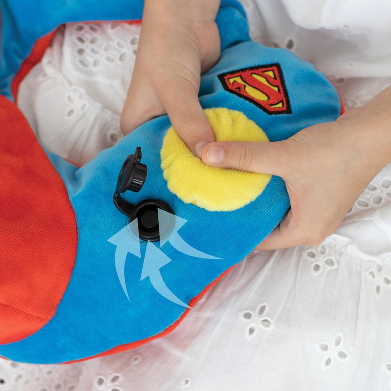JUSTICE LEAGUE SUPERMAN NECK PILLOW WITH HOOD