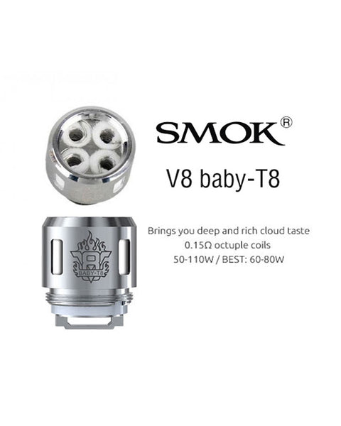 Smok V8 Baby T8 Coils - Five Pack