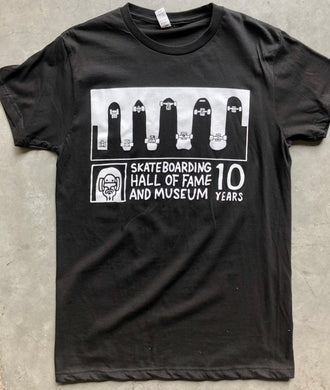 Hall of Fame 10 Black T Shirt