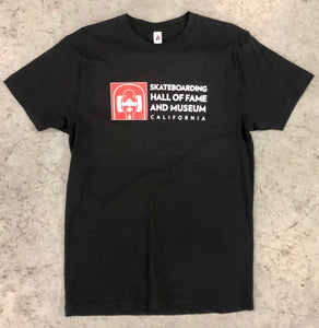 Skateboarding Hall of Fame Museum Black Tee