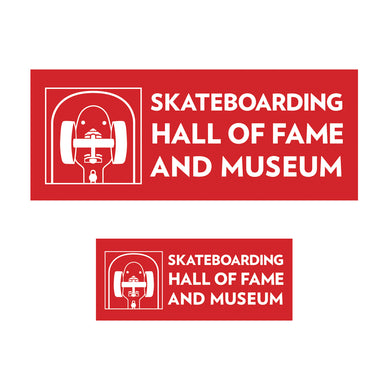 Skateboarding Hall of Fame Museum Stickers