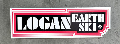 Logan Earth Ski Re-Issue Sticker