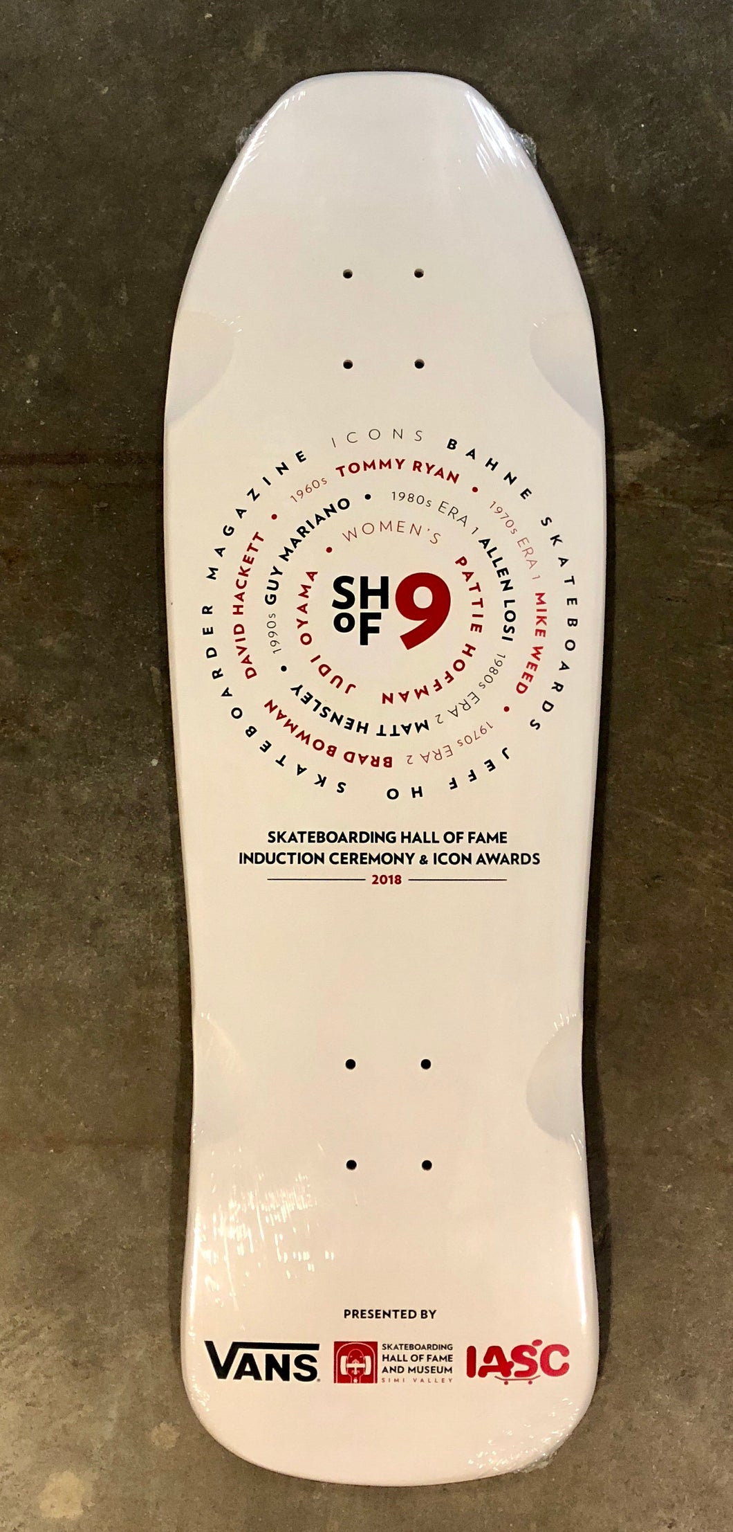 Skateboarding Hall of Fame 9 Deck
