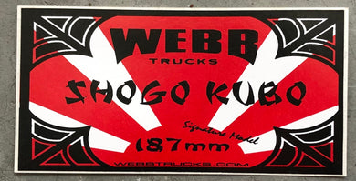 Shogo Kubo Webb Trucks Sticker