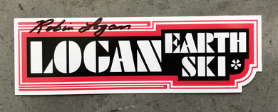 Autographed Logan Earth Ski Sticker