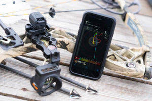 MantisX 10 system user in archery training