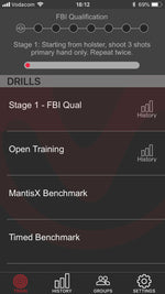 MantisX Firearm Training System - shooting performance system . Dry Fire and life fire full training aid runs on smart phone android and iphone