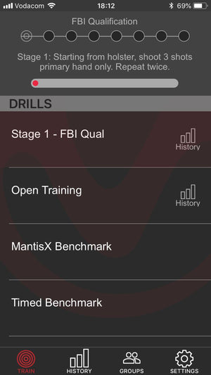 MantisX Firearm Training System - FBI training drill