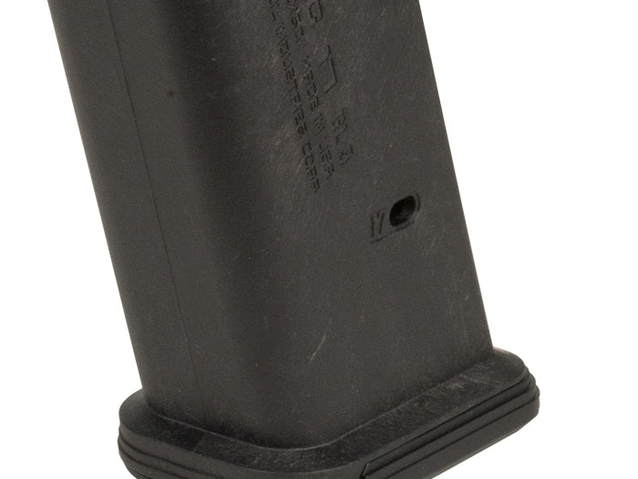 The PMAG 17 GL9 is a 17-round Glock 17 9mm handgun magazine featuring our proprietary all-polymer construction for flawless reliability and durability over thousands of rounds.