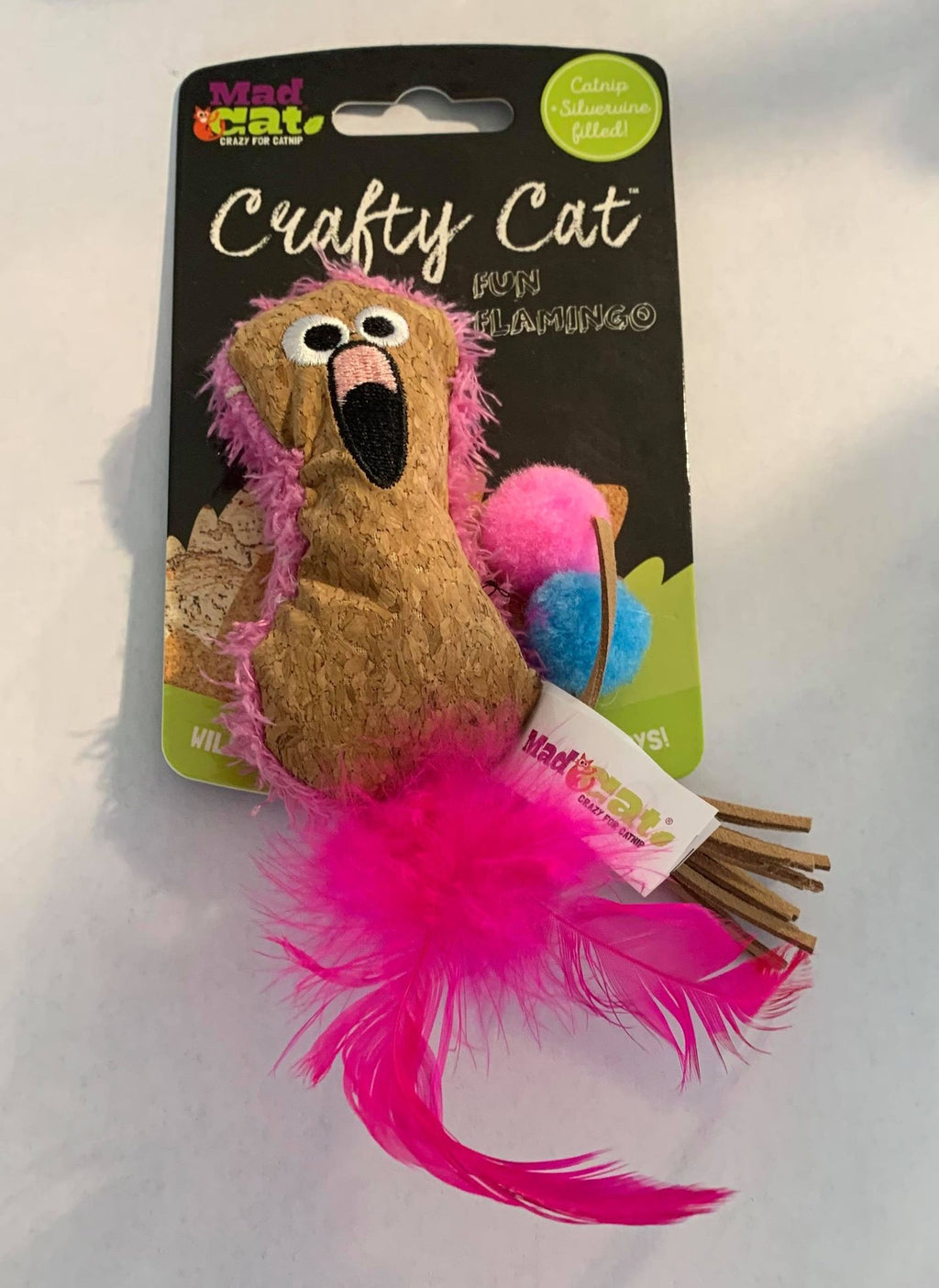 Mad Cats Fun Flamingo Crafty Cat Crazy for Catnip