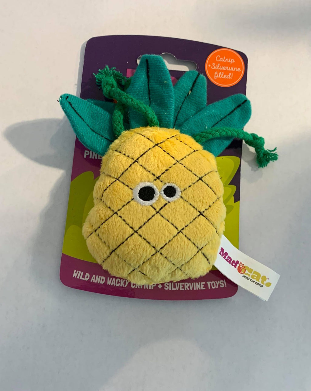 Mad Cats Purrfect Pineapple Crazy for Catnip Cat Toy