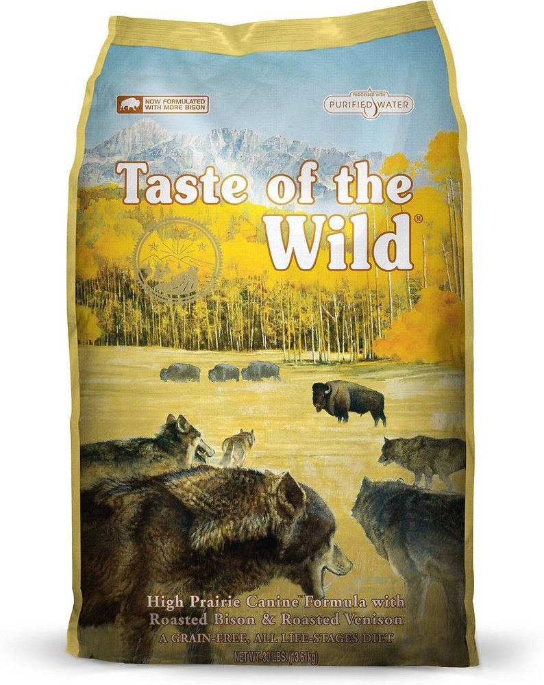 Taste Of The Wild High Prairie Dry Dog Food 28lbs