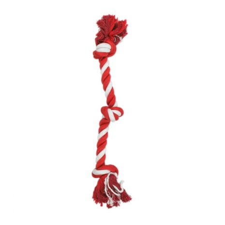 Tall Tails 18in Red & White Knot Rope Toy Christmas