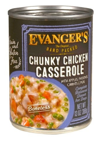Evangers Super Premium Chunky Chicken Casserole Dinner Canned Dog Food