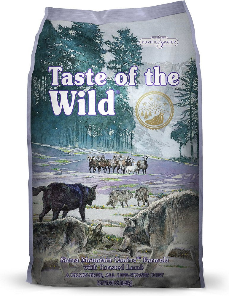 Taste Of The Wild Sierra Mountain Dry Dog Food 28lbs