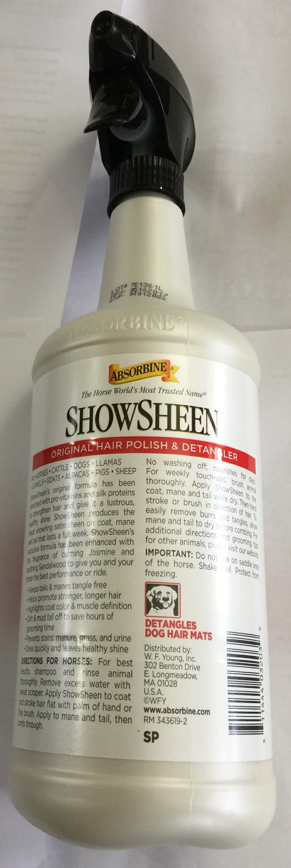 Showsheen Hair Polish & Detangler 32oz Spray Bottle