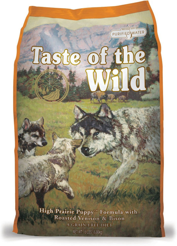 Taste Of The Wild High Prairie Roasted Bison and Venison Puppy Dry Food 28lbs
