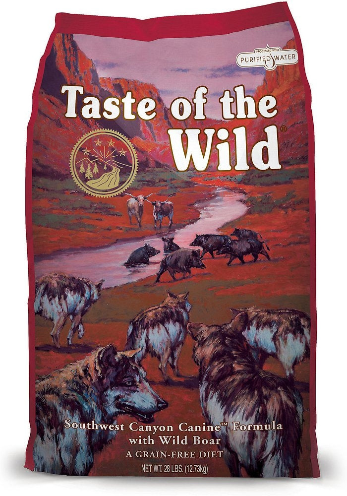 Taste Of The Wild Grain Free Southwest Canyon with Wild Boar Dry Dog Food 28lbs