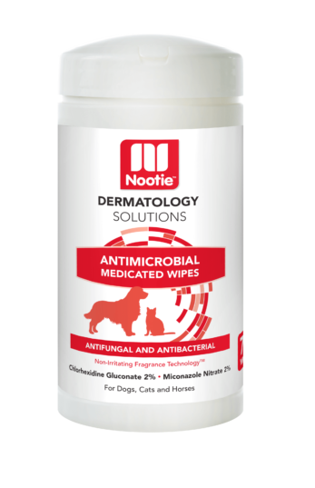 Nootie Dermatology Solutions Antimicrobial Medicated Wipes For Dogs & Cats