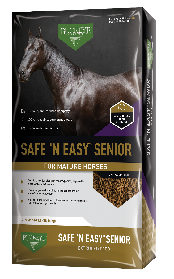 BUCKEYE™Nutrition Safe 'n Easy Senior Extruded Pellet 40lbs