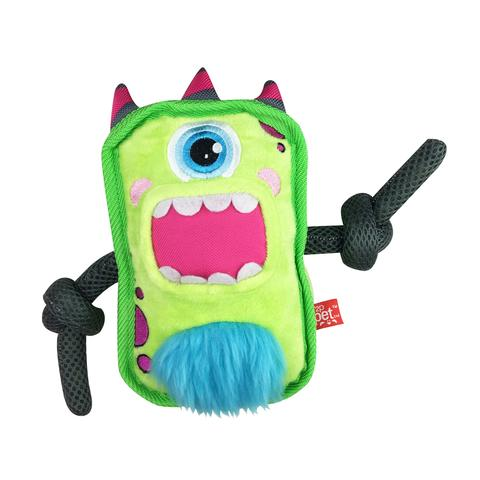 Mega Mutt Monster Green Rope Plush Dog Toy
