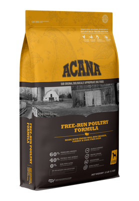 Acana Heritage Free-Run Poultry Formula Dog Food 25lbs