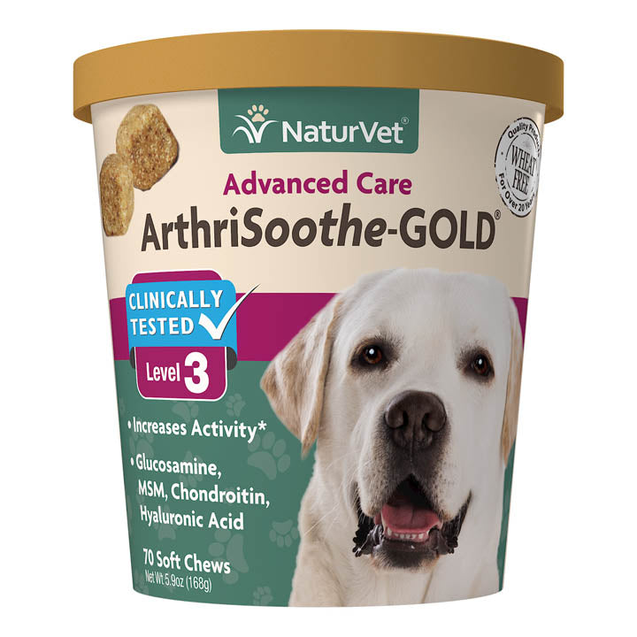 NaturVet ArthriSoothe-Gold Level 3 70soft chews