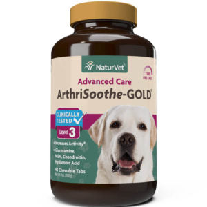 NaturVet ArthriSoothe-Gold Level 3 40 Chewable Tabs