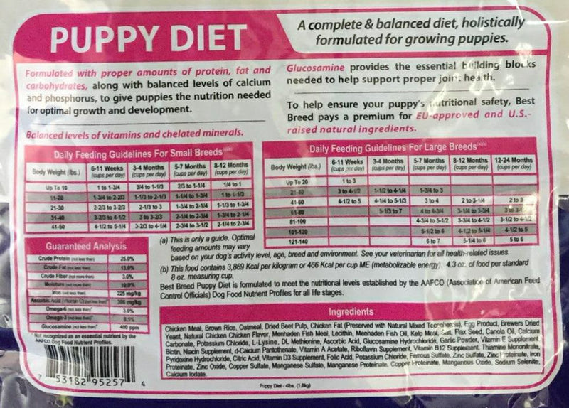 Dr. Gary's Best Breed Puppy Dog Diet