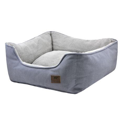"Tall Tails Bolster Bed 17""x15""x7"" Small Charcoal"