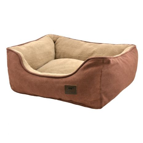 "Tall Tails Bolster Bed 30""x27""x9"" Large Brown"