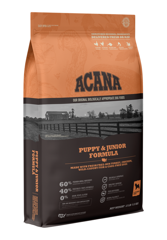 Acana Heritage Puppy and Jr 13lbs