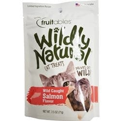 Fruitables Wildly Naturals Salmon Cat Treats 2.5oz bags