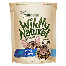 Fruitables Wildly Naturals Tuna Cat Treats 2.5oz bags