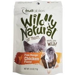 Fruitables Wildly Naturals Chicken Cat Treats 2.5oz bags