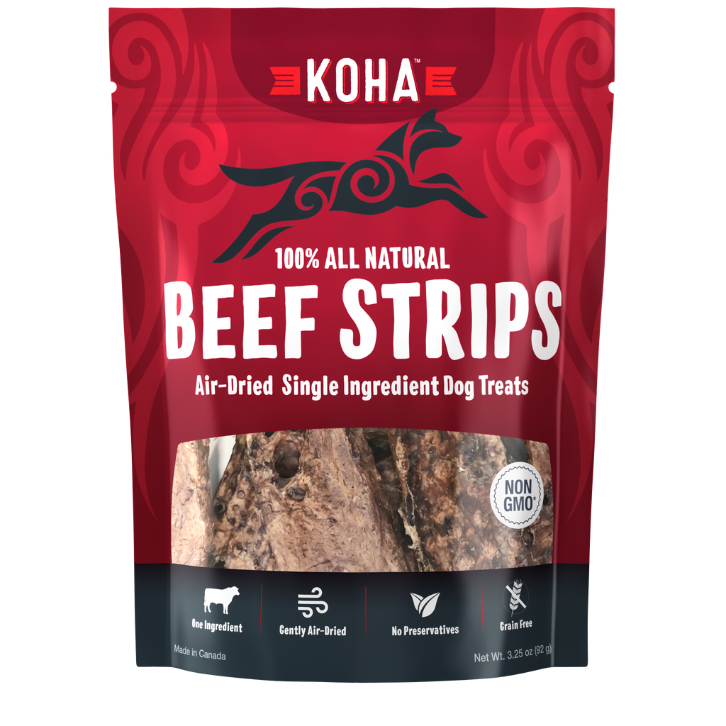 Koha Air Dried Beef Strips Treats 3.25oz