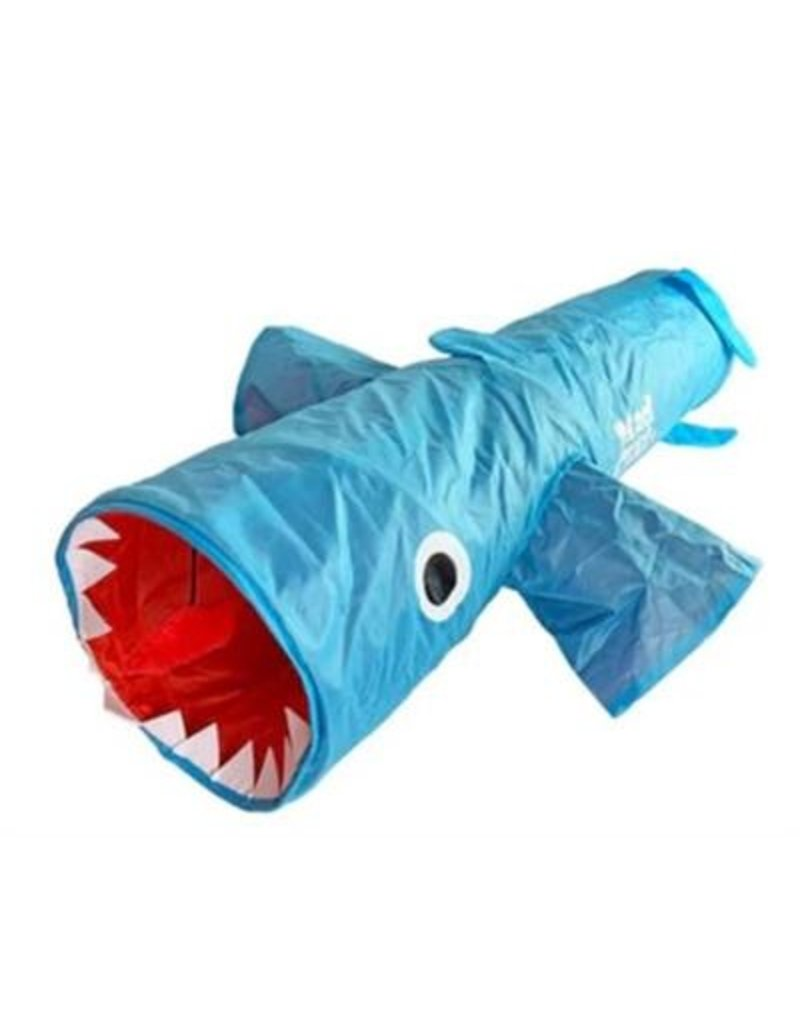 "Mad Cat Jumpin Jaws Shark 38"" in Play Tunnel"