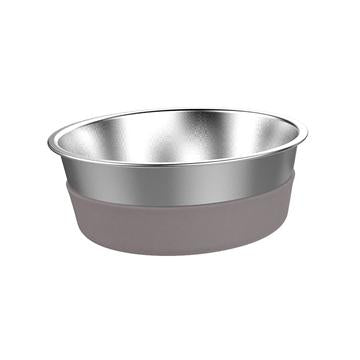 Messy Mutts Stainless Steel Heavy Gauge Bowl with Non-Slip Removable Silicone Base, Large, 8 Cup Bowl