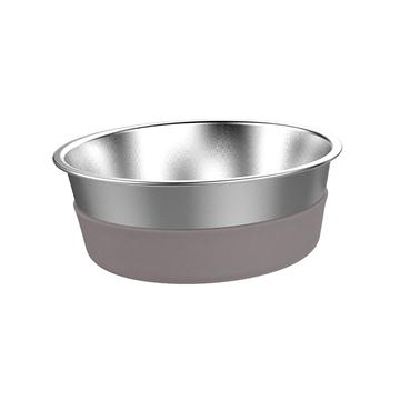 Messy Mutts Stainless Steel Heavy Gauge Bowl with Non-Slip Removable Silicone Base, Small, 2.5 Cup Bowl