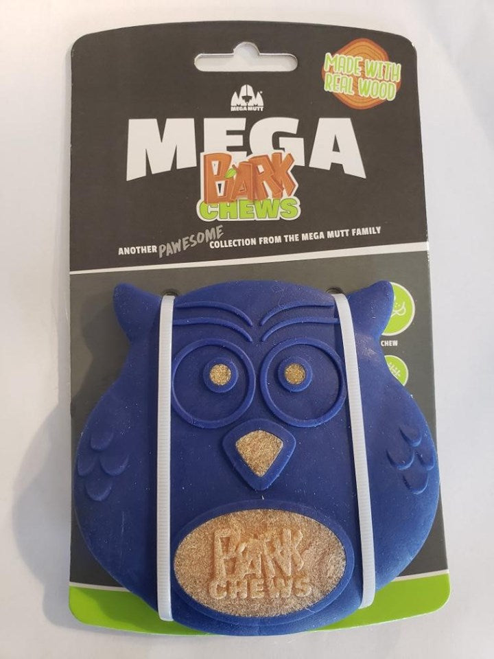 Mega Mutt Owl Bark Chew Dog Toy