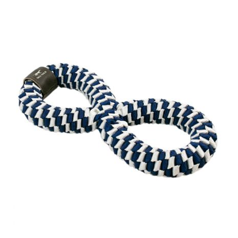 Tall Tails 11in Navy Braided Infinity Tug Toy