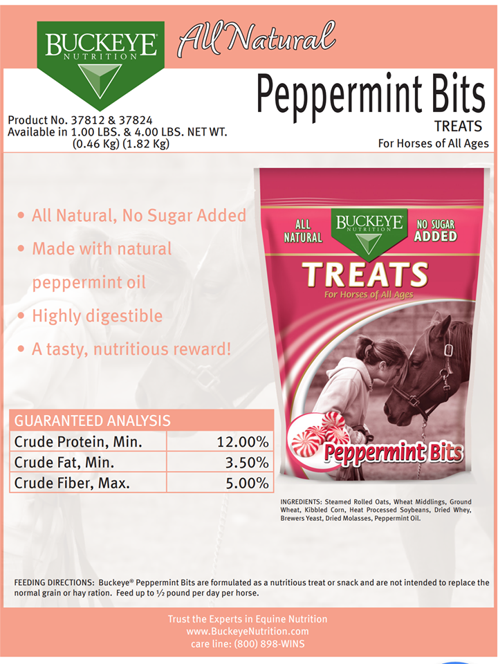 Buckeye Peppermint Horse Treats