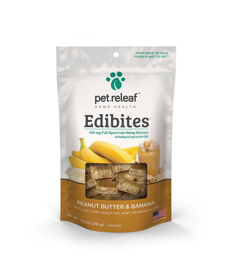 Pet Releaf Edibites Peanut Butter & Banana 7.5oz bag