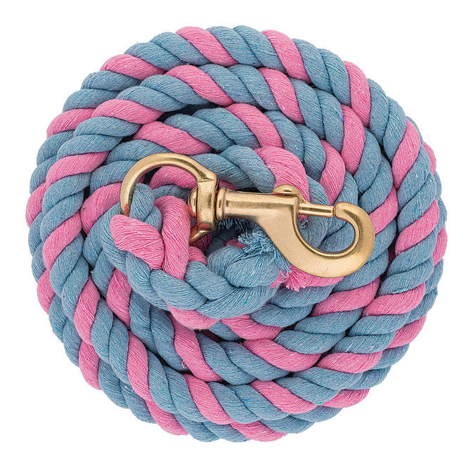 Weaver Leather Products Cotton Lead Ropes Pink/Blue w/SB 225 Snap