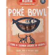 KOHA Poke Bowl Tuna & Salmon for Cats 3oz Pouch
