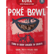KOHA Poke Bowl Tuna & Beef for Cats 3oz Pouch