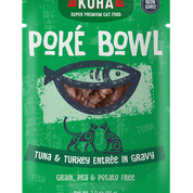 KOHA Poke Bowl Tuna & Turkey for Cats 3oz Pouch